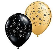 black balloons 12 black gold sparkle 11 balloons celebrate