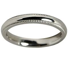 3mm ring sterling silver milgrain 3mm unisex wedding b and ring page 1
