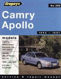 1993 toyota camry repair manual camry sdv10 holden apollo jm jp 1993 1997 workshop manual
