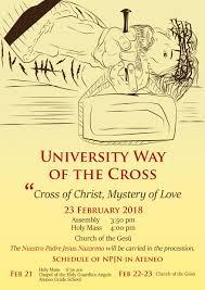 way of a pilgrim way of the cross 2018 ateneo de manila