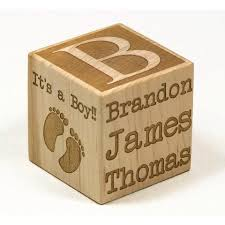 personalized baby block ornament personalized blocks handmade wooden toys and puzzles for