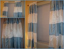 White And Blue Striped Curtains Diy Horizontal Striped Curtains Affordable Modern Home Decor