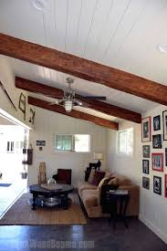 wood beam kitchen ceilings