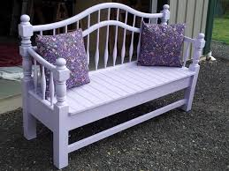 Bed Frame Bench Benches Made From Bed Frames Beautiful Garden Bench Made From A