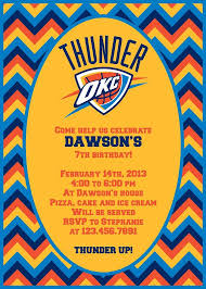 okc thunder party invitation 4x6 or 5x7 by kwpcreations on etsy