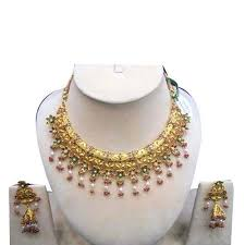 new gold set designer gold necklace set in bazar paharganj new delhi