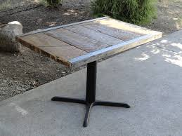 30 x 48 dining table 30x48 raw steel pedestal dining table 4 person mt hood wood works