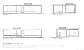 glass house philip johnson plan farnsworth dimensions home