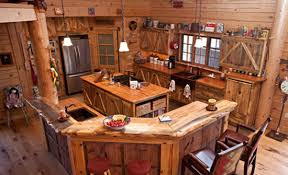 Amazing Log House Kitchens You Have To See Tin Pig - Cabin kitchen cabinets