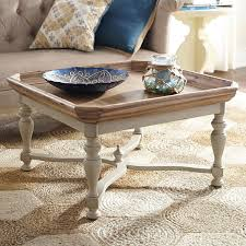 amelia natural stonewash square coffee table square coffee