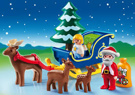 santa claus with reindeer sleigh 6787 playmobil usa