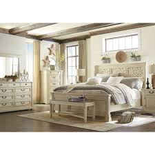 White Queen Bedroom Furniture Ashley Furniture Bolanburg King Louvered Bed In White Local