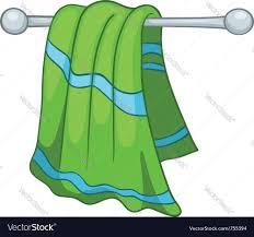 cartoon home kitchen towel royalty free vector image