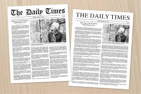 Newspaper Book Report Template Newspaper Article Template Stationery Templates On Creative Market