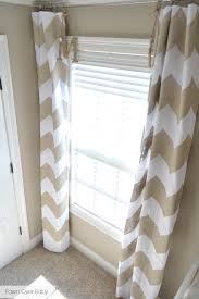 Pottery Barn Curtain Hardware Fawn Over Baby Diy No Sew Chevron Curtains