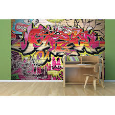 wall decor at the home depot city graffiti wall mural