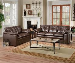 furniture charming dark brown leather sofa set by broyhill