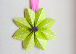 origami how to fold a origami paper flower decoration for a