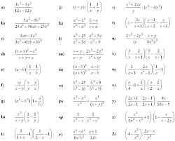 math problem fractions math exercises math problems algebraic fractions