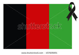afghanistan ribbon afghanistan terror black ribbon condolence on stock vector