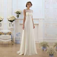 simple empire waist wedding dresses