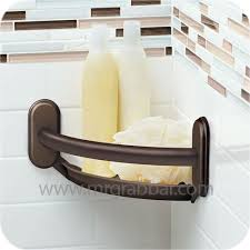 designer grab bars for bathrooms designer grab bar with integrated corner shelf moen lr2354dowb
