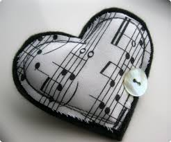 music note fabric heart brooch u2026 cranberrylime