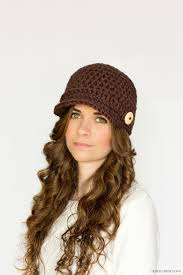 free pattern newsboy cap brown crochet newsboy hat pattern favecrafts com