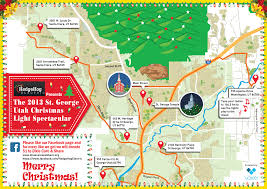 Utah Road Map by 2013 St George Utah Christmas Light Map Visual Ly