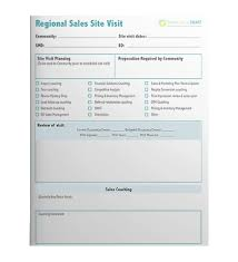 site visit report template regional sales site visit report template senior living smart