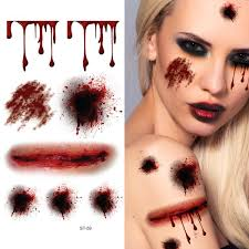 halloween body stickers buy kangkang set of 5 fake scrach bite scar body tattoo stickers