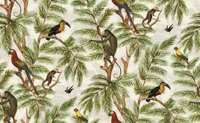monkey wallpaper for walls jungle print natural world by graduate collection multi