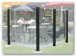 Patio Wind Screens by Glass Windscreen Posts From Easi Serv Products Inc Manufacturer