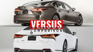 red lexus 2018 2018 lexus ls 500 vs 2018 lexus ls f sport youtube