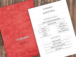 traditional colorful menu design for como en el rancho s a de