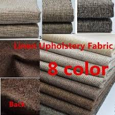 Caravan Upholstery Fabric Suppliers Thick Plain Linen Fabric Cloth Diy Craft Cushion Table Sofa Couch