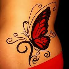 design gallery red butterfly tattoo tattoomagz