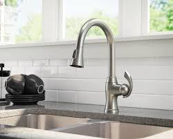 kohler brushed nickel kitchen faucet brushed nickel faucet kitchen 772 bn pull 2 hsubili com