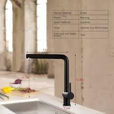 black kitchen sink faucets vertical designed side handle black kitchen sink faucet