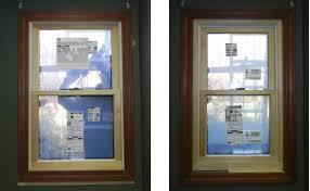 rustic wooden blind window design with double window design