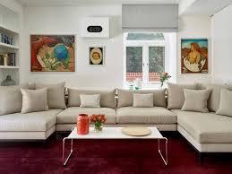 canapé home salon design interieur salon contemporain grand canapé en u beige