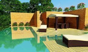 modern luxury backyards with pool and gazebo savwi com