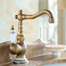 Retro Kitchen Faucet Aliexpress Buy Basin Faucets Single Blue And White Ceramic