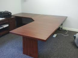 hand crafted hickory l shaped desk by baltic woodsmith