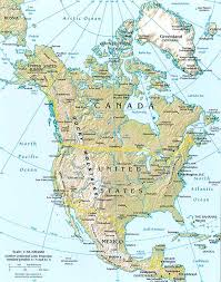 america map geography of america map of