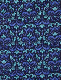 navy blue blooming damask flower ornament fabric michael miller