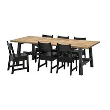 Ikea Dining Room Table And Chairs Skogsta Norråker Table And 6 Chairs Ikea