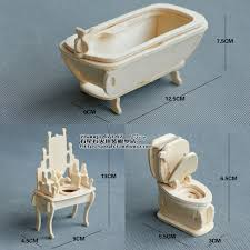 Dolls House Bathroom Furniture 3d Jigsaw Puzzles Wooden Puzzle Dollhouse Doll House Bathroom