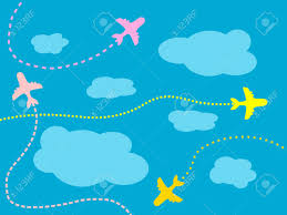 air travel airplane background