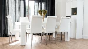 white dining room table seats 8 modern chunky white oak dining table and real leather chairs seats 8